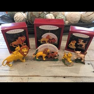Hallmark The Lion King Ornament Bundle